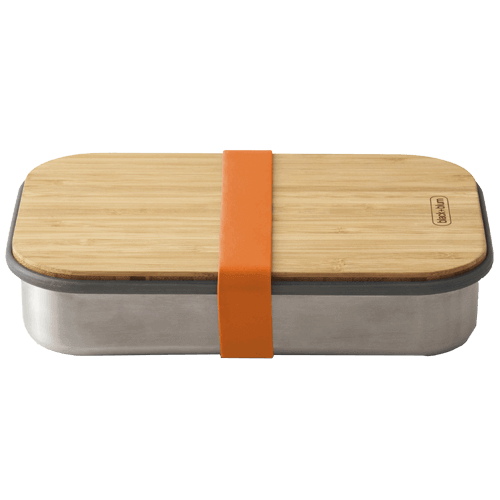 Black Blum Sandwich Lunch Box - Orange
