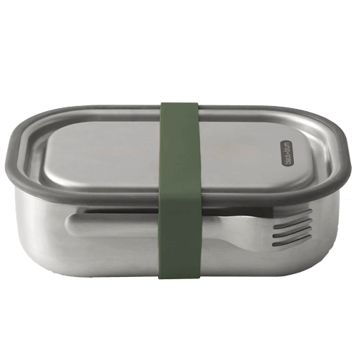 Black Blum Stainless Steel Lunch Box - Olive