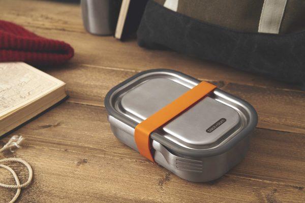 Black+Blum Stainless Steel Lunch Box - Orange Counter