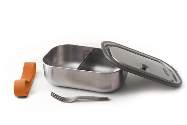 Black+Blum Stainless Steel Lunch Box - Orange Open