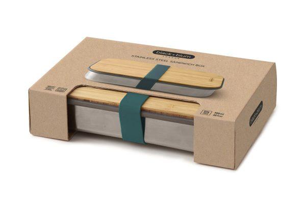 Black+Blum Wood Stainless Steel Sandwich Box - Ocean Boxed