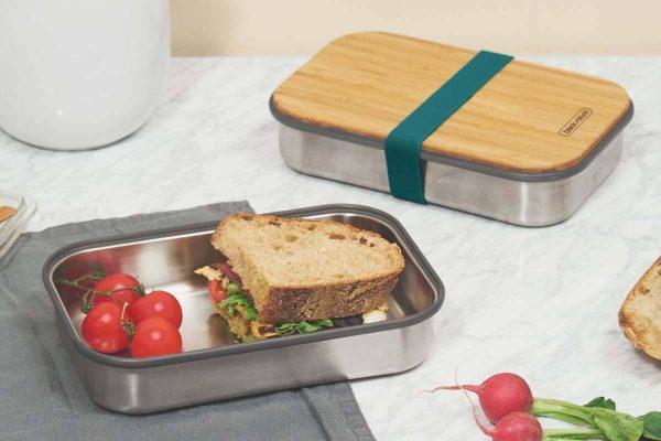 Black+Blum Wood Stainless Steel Sandwich Box - Ocean Sandwich