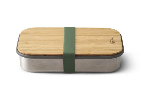 Black+Blum Wood Stainless Steel Sandwich Box - Olive R