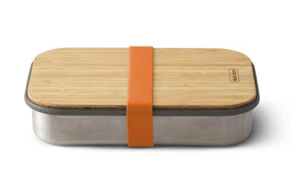 Black+Blum Wood Stainless Steel Sandwich Box - Orange