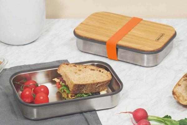 Black+Blum Wood Stainless Steel Sandwich Box - Orange Sandwich