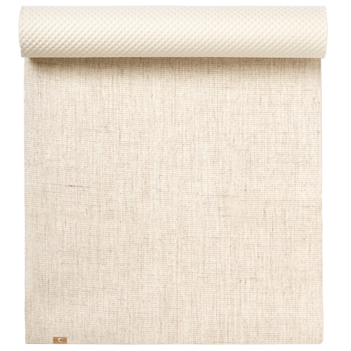 Colourfree Natural Rubber and Jute Yoga Mat - EcoYoga