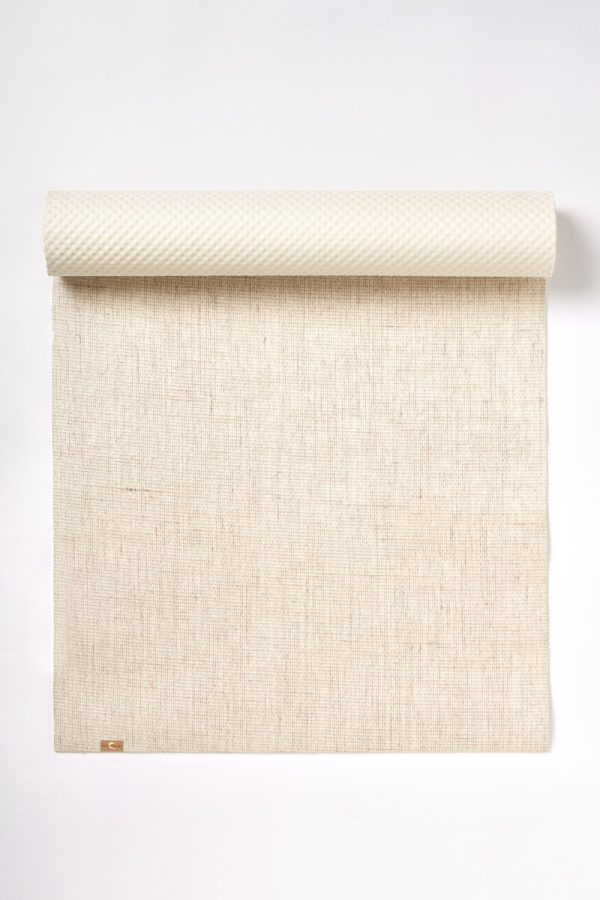 EcoYoga Jute Rubber Yoga Mat Eco Biodegradable - Natural