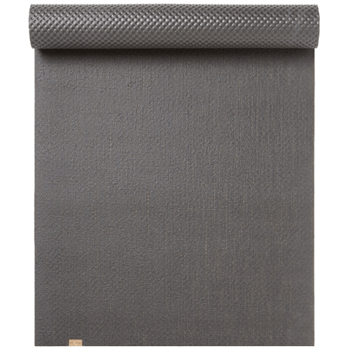 Grey Rubber and Jute Yoga Mat - EcoYoga