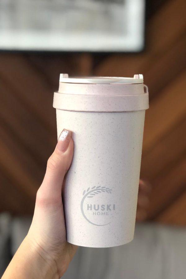Huski Home 400ml Keep Cup Rice Husk - Rose Hand