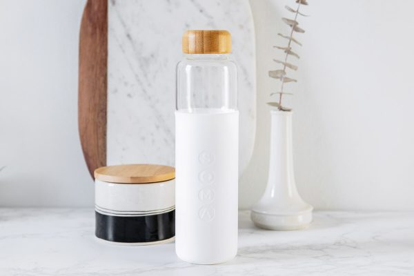 Soma Glass Water Bottle 17oz - White