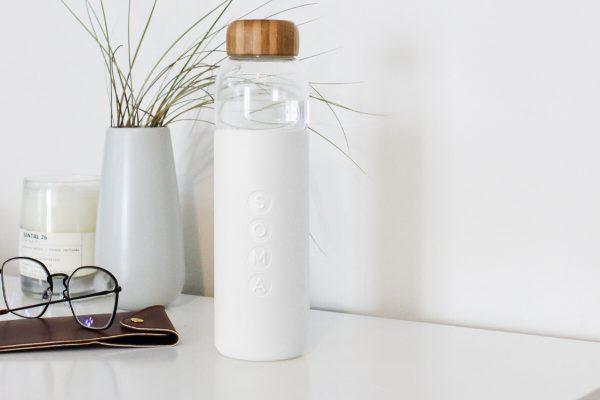Soma Glass Water Bottle 17oz - White Glasses