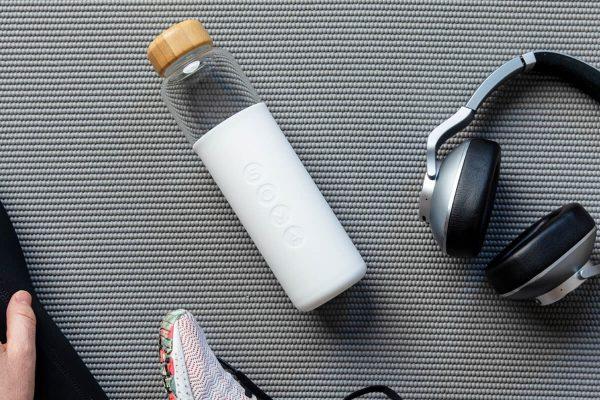Soma Glass Water Bottle 17oz - White Gym