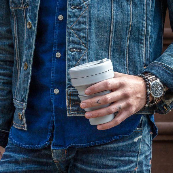Stojo Collapsible Travel Mug - Cashmere Finger