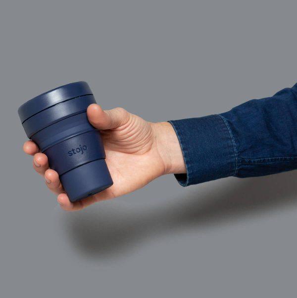 Stojo Collapsible Travel Mug - Denim Grip