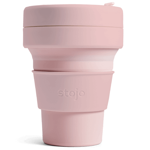 Stojo Pocket Collapsible Keep Cup 12oz - Carnation