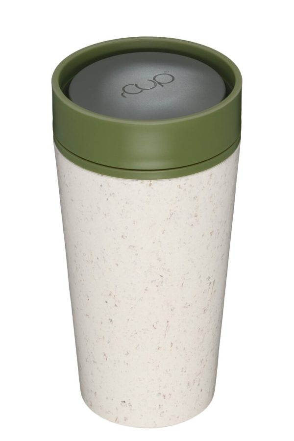 rCup Recycled Coffee Cup Keep Cup 12oz - Cream Green