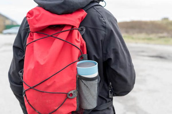 rCup Recycled Coffee Cup Keep Cup 12oz - Cream Teal Backpack