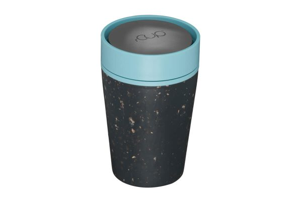 rCup Recycled Coffee Cup Keep Cup 8oz - Black Teal