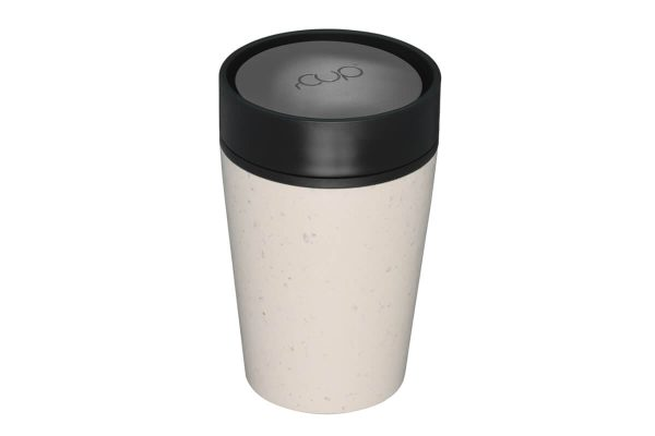 rCup Recycled Coffee Cup Keep Cup 8oz - Cream Black 8oz