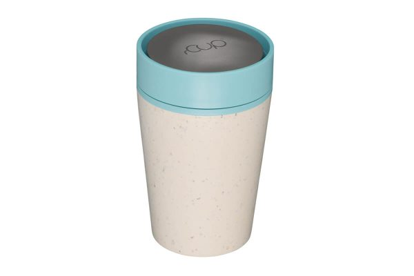 rCup Recycled Coffee Cup Keep Cup 8oz - Cream Teal 8oz