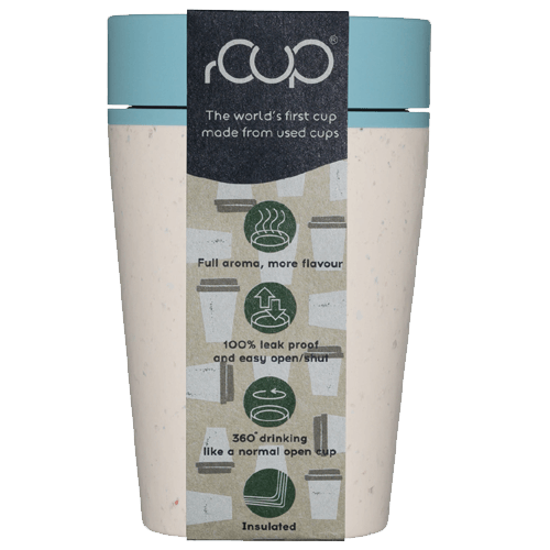 rCup Recycled Coffee Cup Keep Cup 8oz - Cream Teal