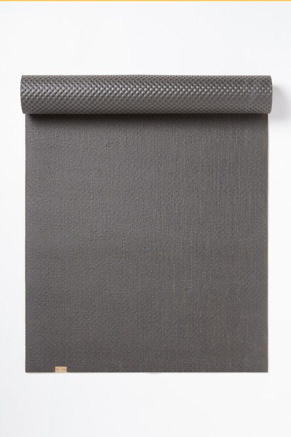EcoYoga Jute Rubber Yoga Mat Eco Biodegradable - Grey