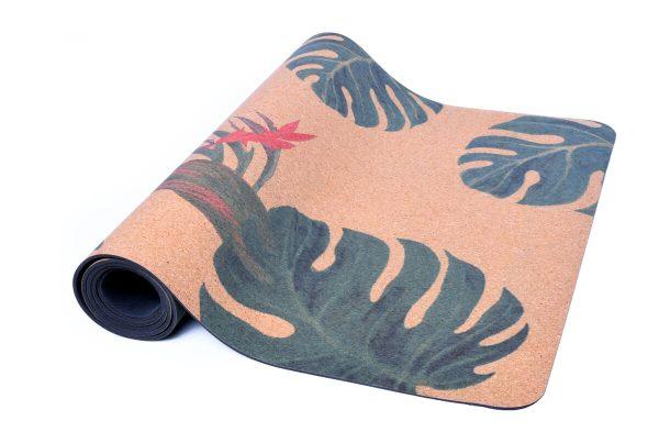 Cork Rubber Supawell Yoga Mat - Monstera Roll