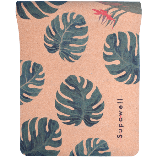 Cork Rubber Supawell Yoga Mat - Monstera