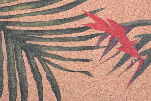 Cork Rubber Supawell Yoga Mat - Paradise Detail