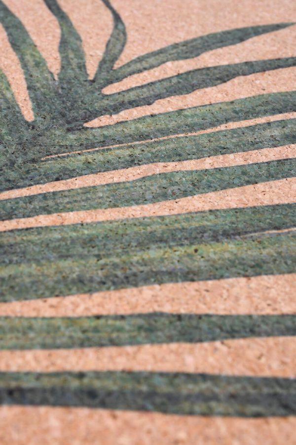 Cork Rubber Supawell Yoga Mat - Paradise Detail Green