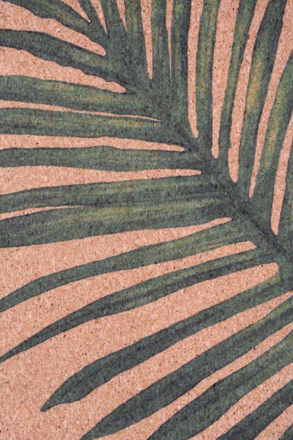 Cork Rubber Supawell Yoga Mat - Paradise Detail Leaf