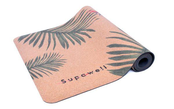 Cork Rubber Supawell Yoga Mat - Paradise Roll Logo