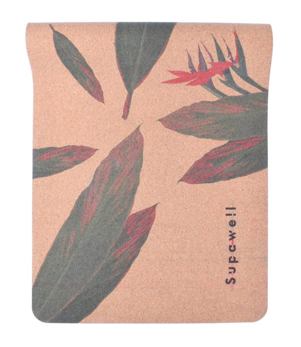 Cork Rubber Supawell Yoga Mat - Red Ti Half Roll