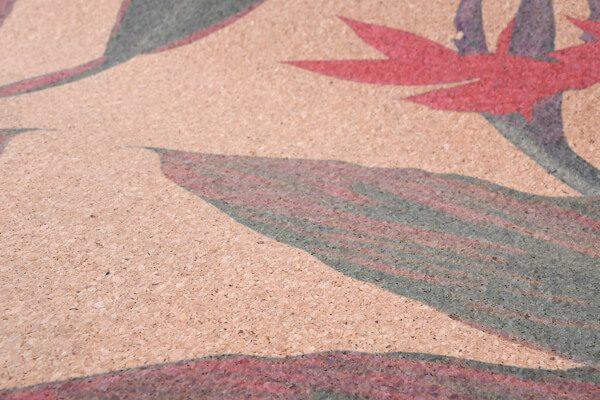 Cork Rubber Supawell Yoga Mat - Red Ti Hand Drawn