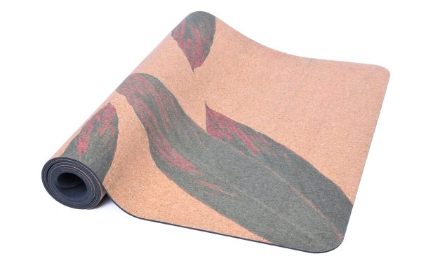 Cork Rubber Supawell Yoga Mat - Red Ti Roll
