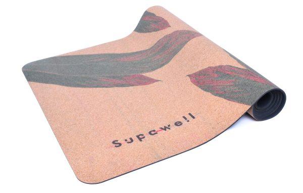 Cork Rubber Supawell Yoga Mat - Red Ti Roll Logo