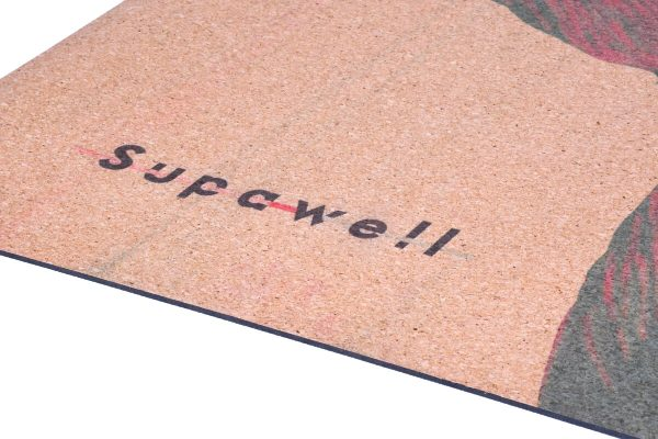 Cork Rubber Supawell Yoga Mat - Red Ti Thickness